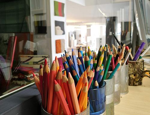 estudio de interiores colorido